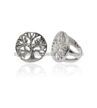 Silver 925 Tree of Life Design Ring Wholesale Jewelry Factory in Thailand..!!