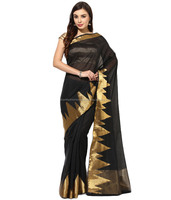EXCLUSIVELY DESIGNER SILK COTTON SAREES WITH LONG BORDER