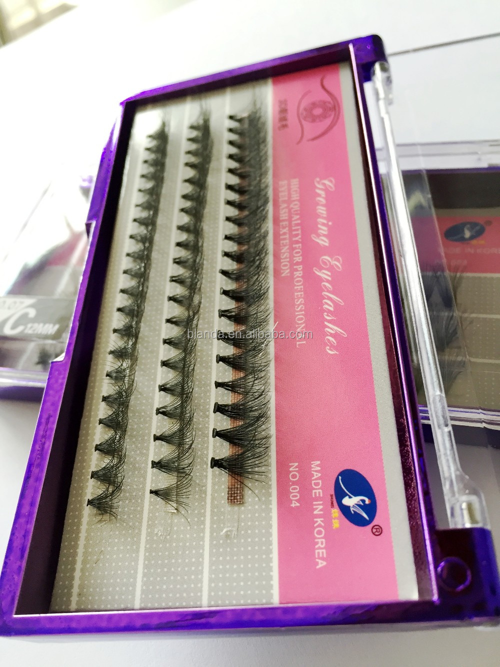 High quality private label 3d mink lashes, Invisible Band Eyelashes