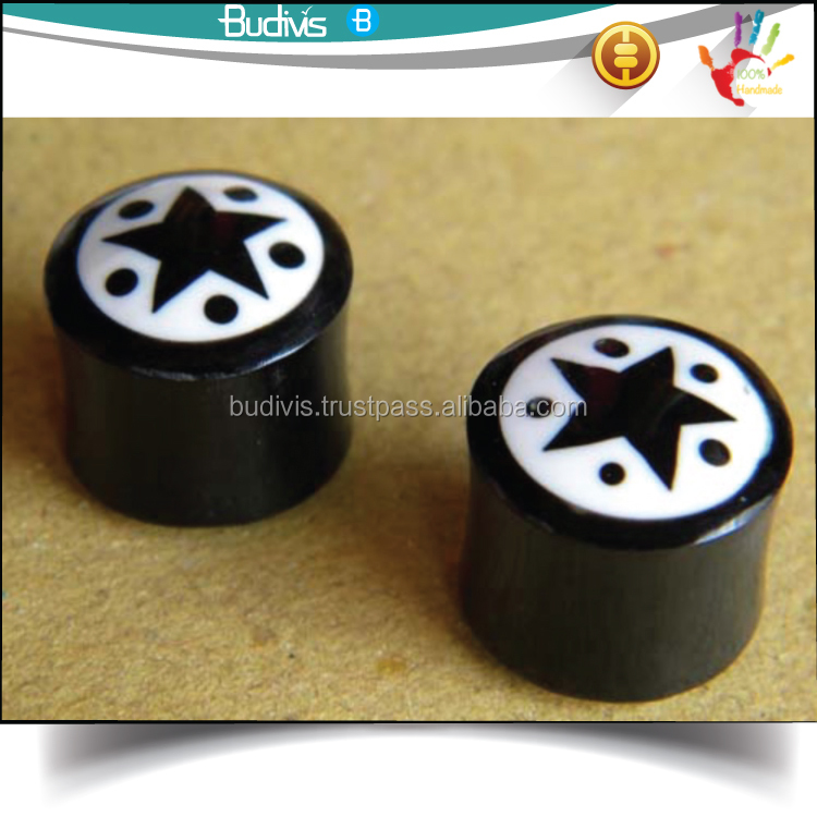 for sale horn natural body jewelry piercing sterilized Ear Plug gauges manufacturer