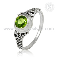 Grandiosity Indian Design Silver Jewelry Peridot Ring Pretty Collection For Women 925 Sterling Silver