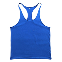 Full Back Gym Tank Tops Custom Printed Mens Singlets Fitness Wears Wholesale
