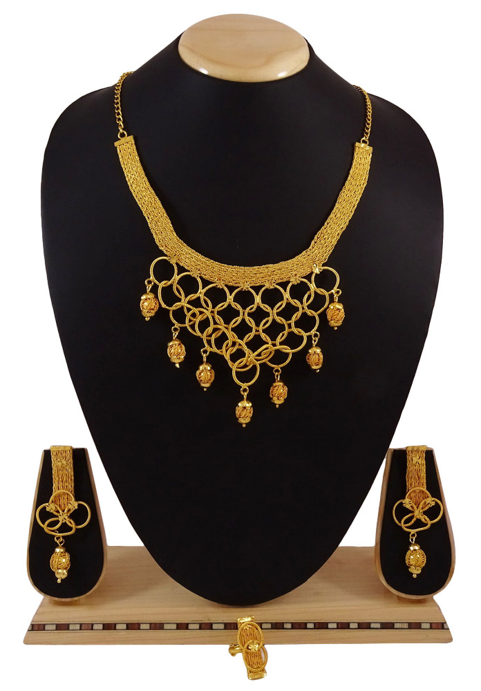 Indian Ethnic Goldplated 3Pcs Necklace Set Traditional Bollywood Style Jewelry IMRB-BNG150A