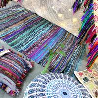 Reversible Dhurrie Rectangular Cheap price Indian Rag Rug Handmade Chindi Rugs Meditation Carpets