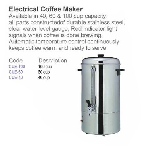 Commercial stainless steel coffee maker