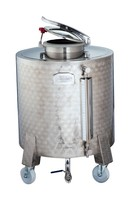 Stainless Steel Silos on wheels 290 lt - 500 lt