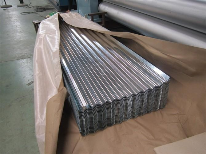 Cheap price Standard size zinc Galvanized iron GI / Galvalume  PPGI / PPGL roofing sheet corrugated steel plate for prefab house