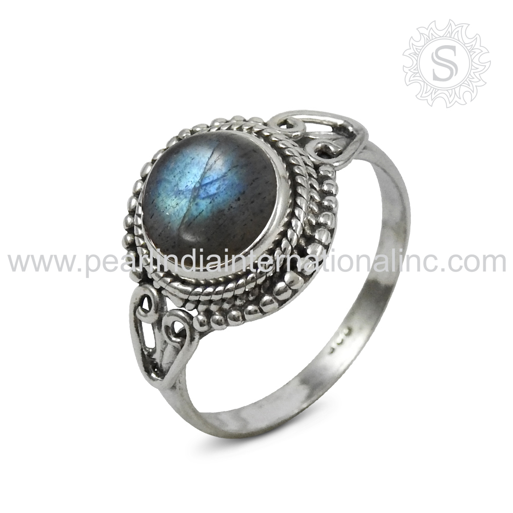 Renowned Labradorite Gemstone 100% 925 Sterling Silver Jewellery Ring Handmade Silver Jewellery Supplier