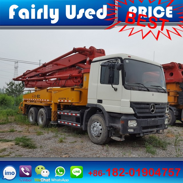 Sany Mercedes Benz 37 Meter Concrete Pump Truck of diesel Germany Benz chassis