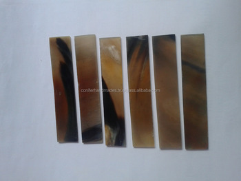 natural buffalo horn plates in assorted sizes suitable for spectacle makers and for art and crafts
