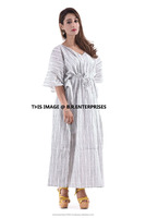 wholesale indian handmade 100% cotton embroidery latest kaftan design dress
