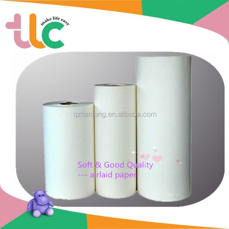 QD Sanitary Pad and Diapers House Products Breathable Soft Airlaid Paper Jumbo Rolls