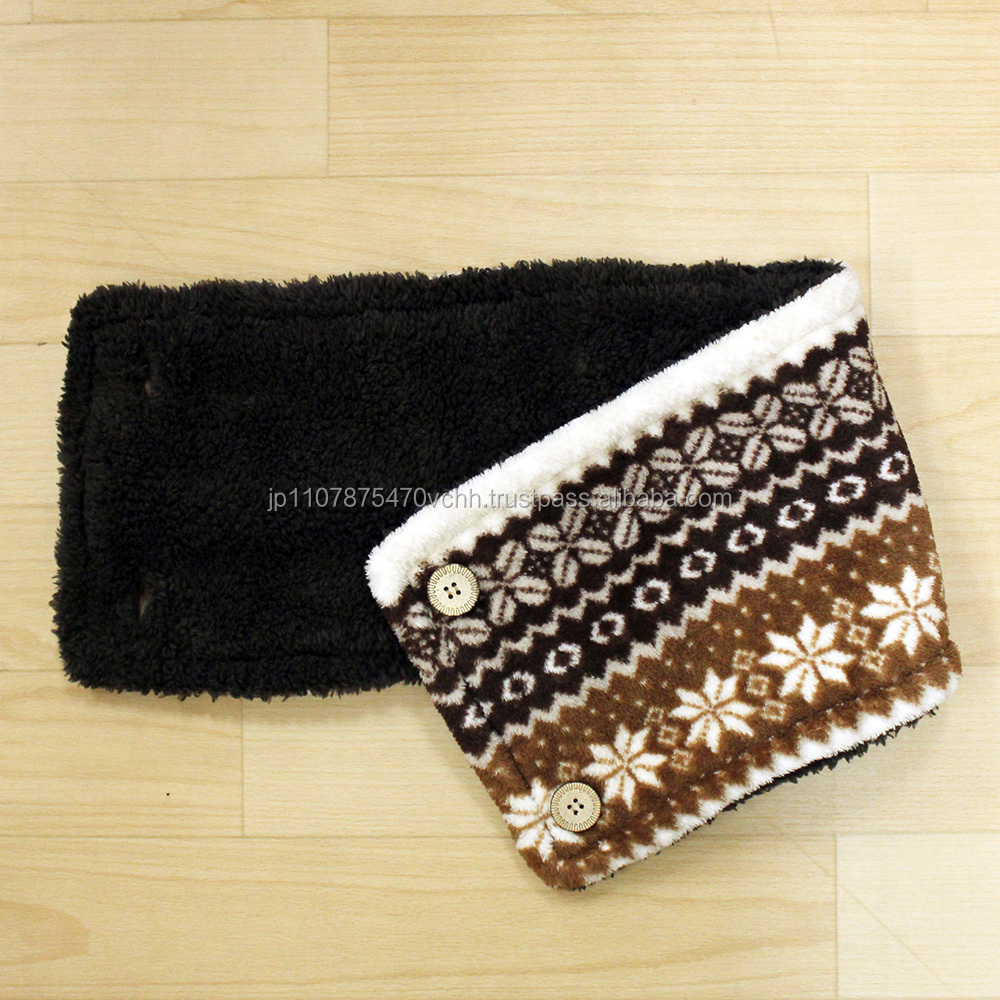 Reversible soft neck warmer ladies stole designed in japan