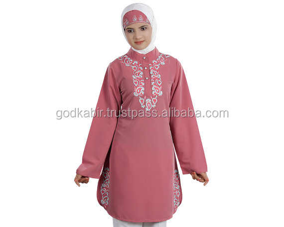 Women's Lovely Naseeka Tunic with Embroidered/Islamic Hijab Clothing /Popular New Stylist Pattern Abaya For Wholesale.