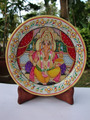 Indian Marble Thali Plate Handicraft Religious Gift Decor Hindu God Puja Ganesha Miniature Painting Diwali Gifts