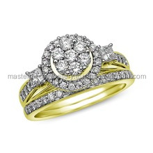 Latest Platinum / 18k Gold Real Diamond Wedding Rings For Men and Women Big ring designs