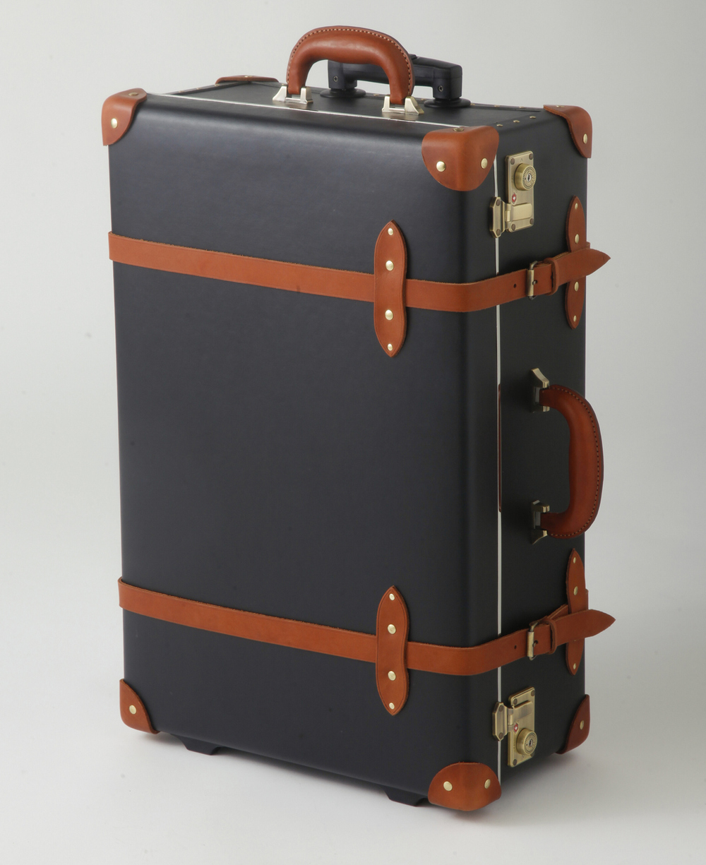 The gallery for vintage luggage with wheels for The vintage suitcase