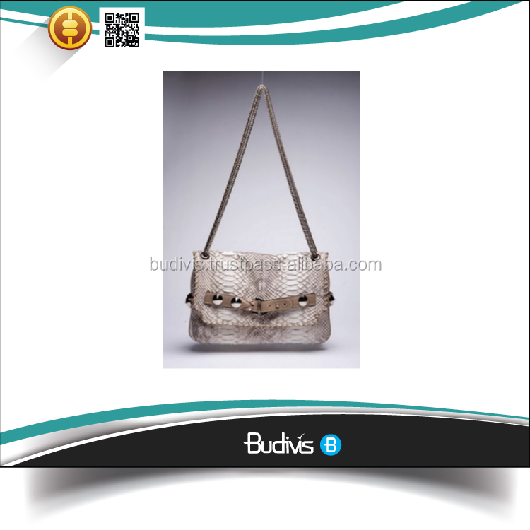 Guaranteed 100% Real Python Skin Leather Ladies Handbag Low Price