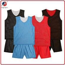 Custom Printing Wholesale Cheap Double Sided Polyester Mesh Basketball Reversible Uniform
