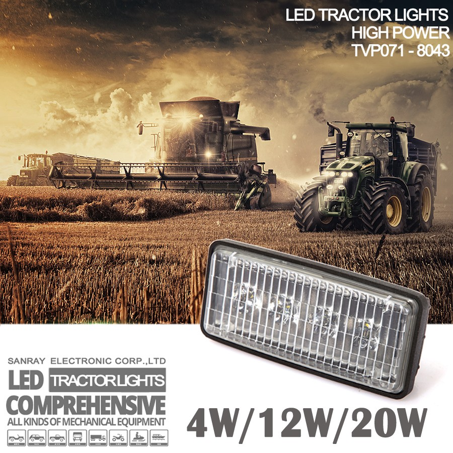 Tractor Supply Tractor Fender Light : W led agriculture lights fender mount headlight jd light