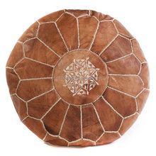 Genuine leather Moroccan Pouf , pouffe , ottoman, Moroccan Wholesale