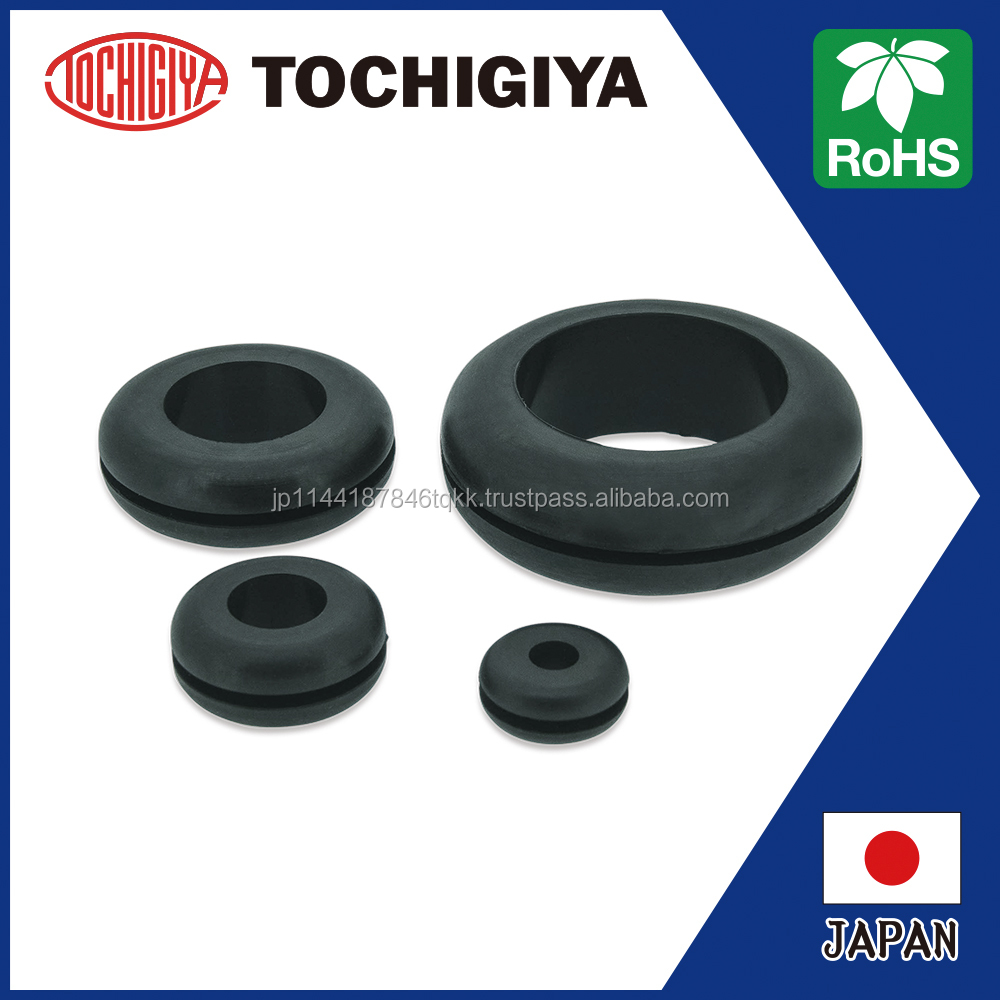 TM-B series RoHS brush grommet Japan Rubber Grommet black EPDM cushion hole slit high quality MSDS