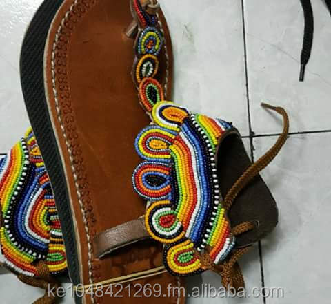 African pure leather hand made Maasai sandals for both men and women