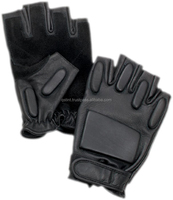 Policed Tactical kevlar Leather Gloves and fourway with velcro closer Gloves