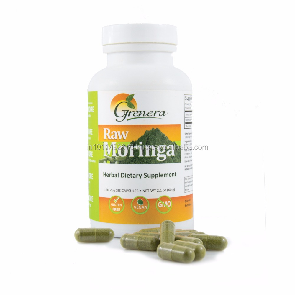 HACCP certified health care product vitamin C capsules from Moringa
