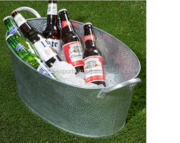 Galvanized Oval Metal Beer Tub