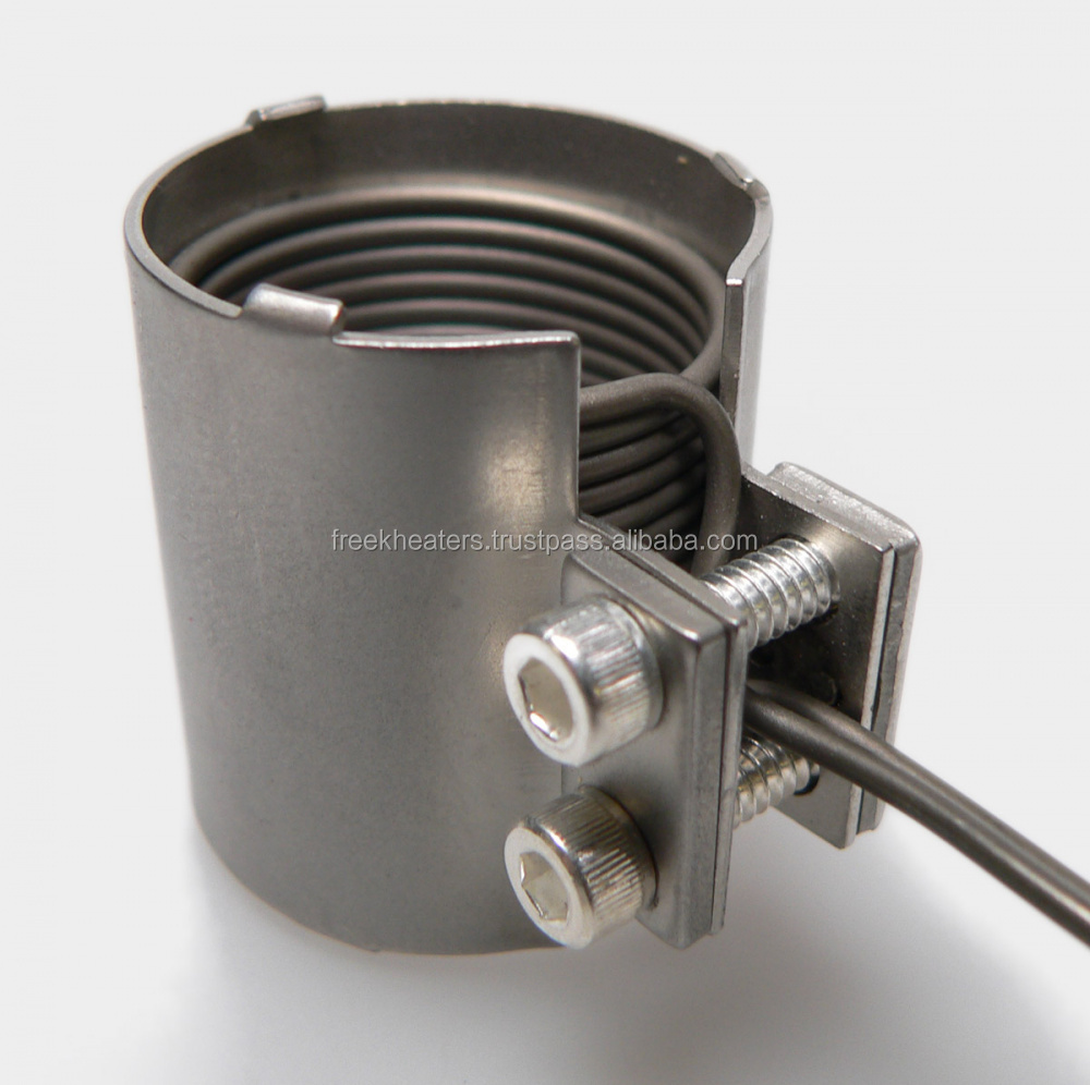 Two Screw Clamp Band (FB) / Design: Rosemount / Function: Two-screw clamping / Heater: MicroCoils 1,3 x 2,3 mm diameter 1,4 mm