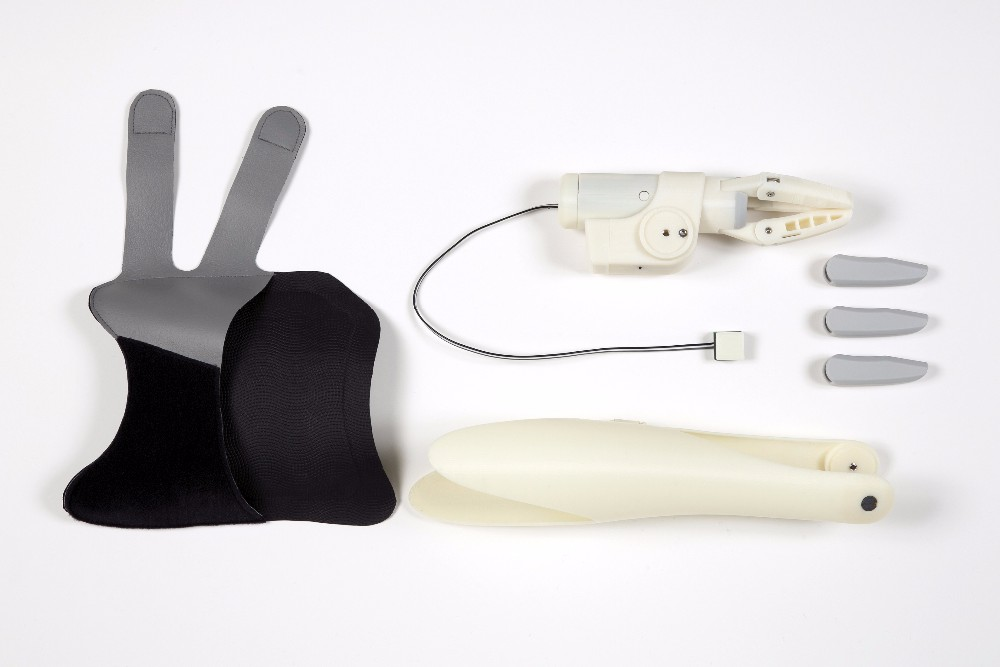 made in Japan, Easy to Get, Fit and Use, Prosthetic (Artificial) arm- Finch, Simple-structured, Light-weight, Alternative hand,