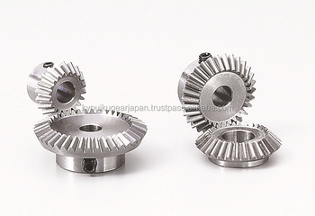 Straight bevel gear Module 2 Ratio 2 Stainless steel Made in Japan KG STOCK GEARS