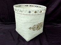 Household storage white basket