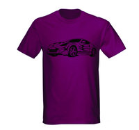 Custom Sublimation T-shirts Sports Car printed designs Customized form Men's