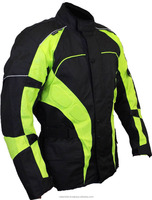Leather-Cordura Textile Motorcycle Waterproof jackets, CE armors, Removable Liners, YKK Zippers