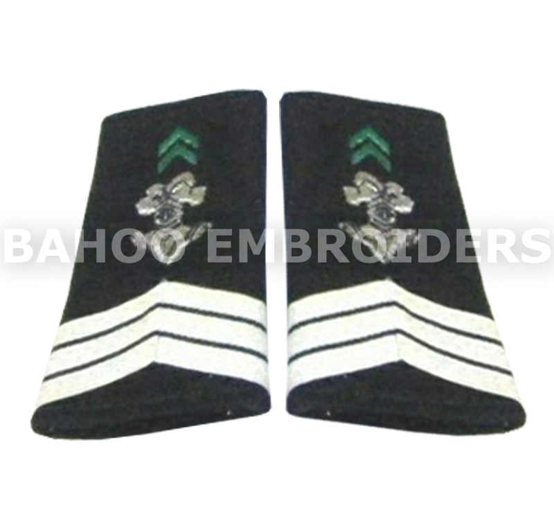 Shoulder Boards with Three White Braids | Epaulets Shoulder Boards