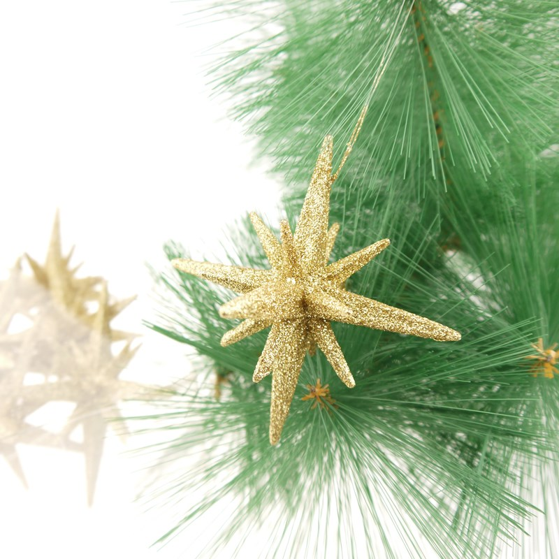Christmas 5 3d pointed glitter star ornament star for 3d star christmas decoration