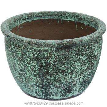 vietnam ceramic flower pots large garden pot black clay