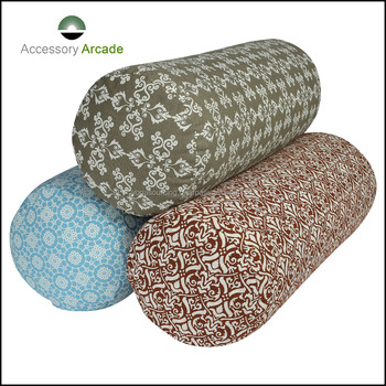 Cotton or Buckwheat Filled cylindrical Bolsters for Yoga Postures