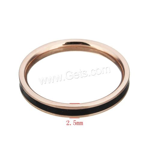 New Enamel Stainless Steel Finger Ring more colors for choice 2.5mm US Ring latest gold finger ring designs