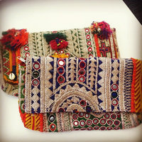 New jaipur style thired Work Clutch-Floral Embroidered handbag /clutch bag