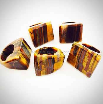 TOP QUALITY BRAZILIAN TIGER EYE RINGS