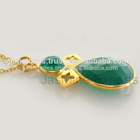 Wholesale Green Onyx Gemstone Sterling Silver Indian Fashion Jewelry 2017