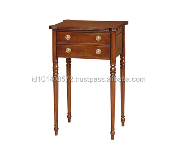 Mahogany Hall Table Corner 2 Drawer Indoor Furniture'