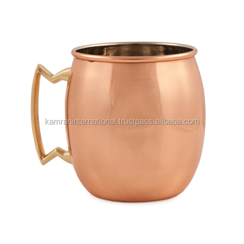 BPA FREE SMOOTH 100% COPPERTISAN BARREL MOSCOW MULE COCKTAIL DRINKING MUG