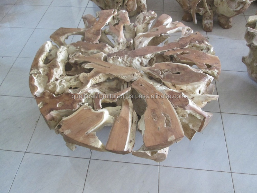 teak root coffee table round shape buy teak coffee table. Black Bedroom Furniture Sets. Home Design Ideas