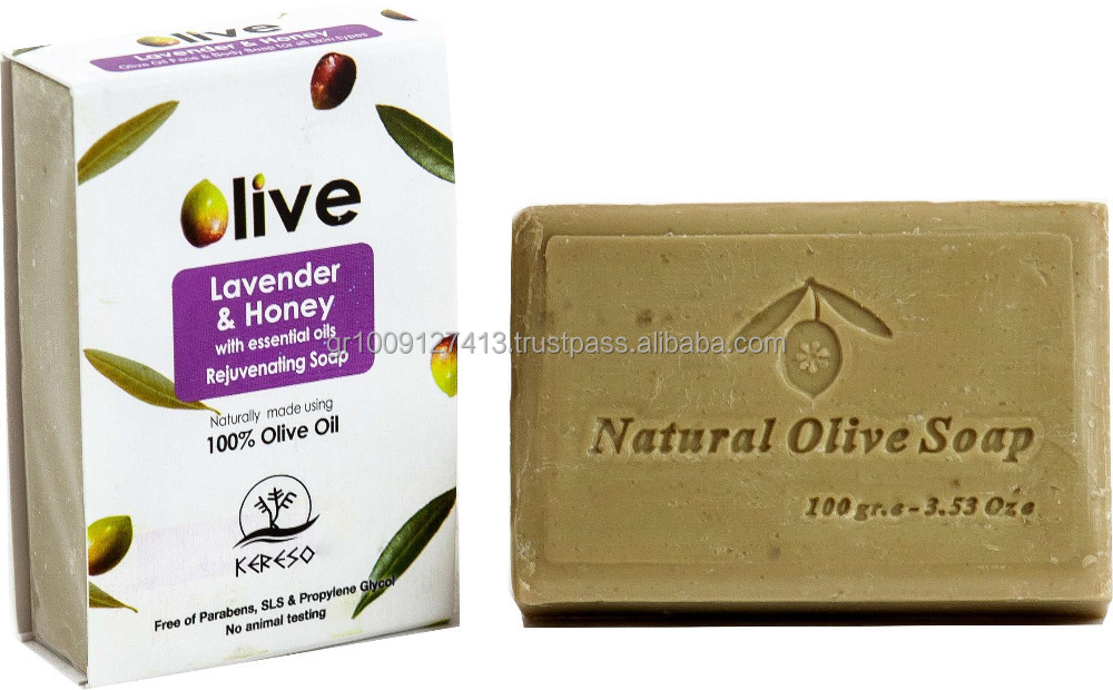 All natural traditional olive oil soap from Greece