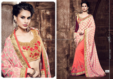 Goodness Off White Brasso Saree/embroidered saree fabric/wholesale saree