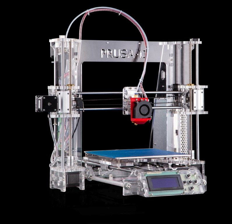3D PRINTER. PRUSA I3 ACRYLIC - MOUNTED AND CALIBRATED - PLUG&PLAY
